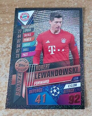 Match Attax 101 2020 Robert Lewandowski bronce edición limitada #LE5B