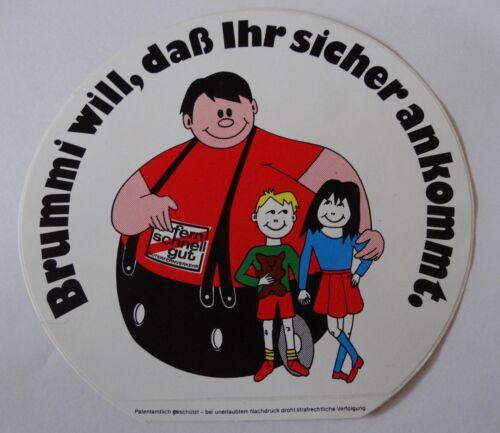 Kinder Rücksicht LKW Trucker 80er Sticker Aufkleber fern schnell gut BRUMMI