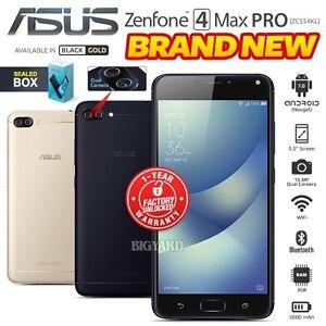 New sealed unlocked asus zenfone 4 max pro zc554kl black gold image is loading new sealed unlocked asus zenfone 4 max pro stopboris Images