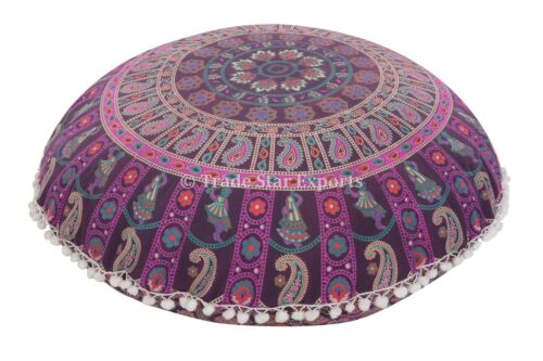 """32/"""" Large Decorative Throw Pillows with Insert Mandala Round Floor Cushion Cover"""