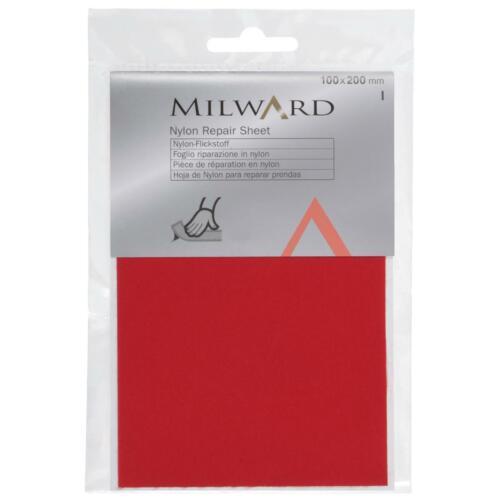 Milward Nylon Self Adhesive Waterproof Repair Patches Mending Coats Tents Bags
