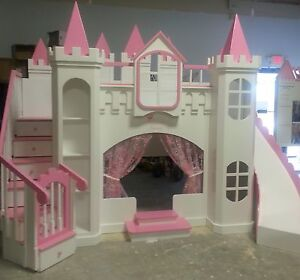 New Custom Princess Imani Castle Loft Bunk Bed Indoor Playhouse Ebay