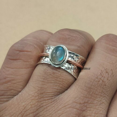 Labradorite Ring 925 Sterling Silver Spinner Ring Handmade Ring All Size sr25028