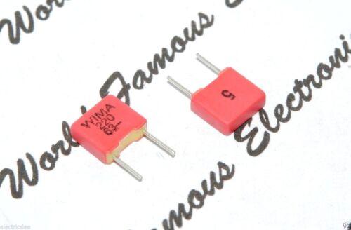 63V 5/% pitch:5mm Capacitor FKP2C002201D00JSSD 0,22nF WIMA FKP2 220P 10pcs
