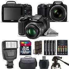 Nikon COOLPIX L340 Camera 28x Optical Zoom + Flash + Case - 32GB Kit Bundle