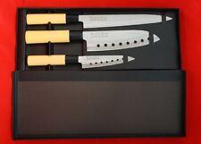 PRO LINE 3 PCS Sushi Santoku Chef Knife Set. 3 Knives