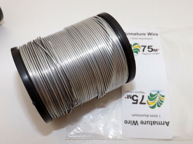 1mm Aluminium Craft, Modelling, Armature Wire, PICK LENGTH, FREE 1st CLASS POST!