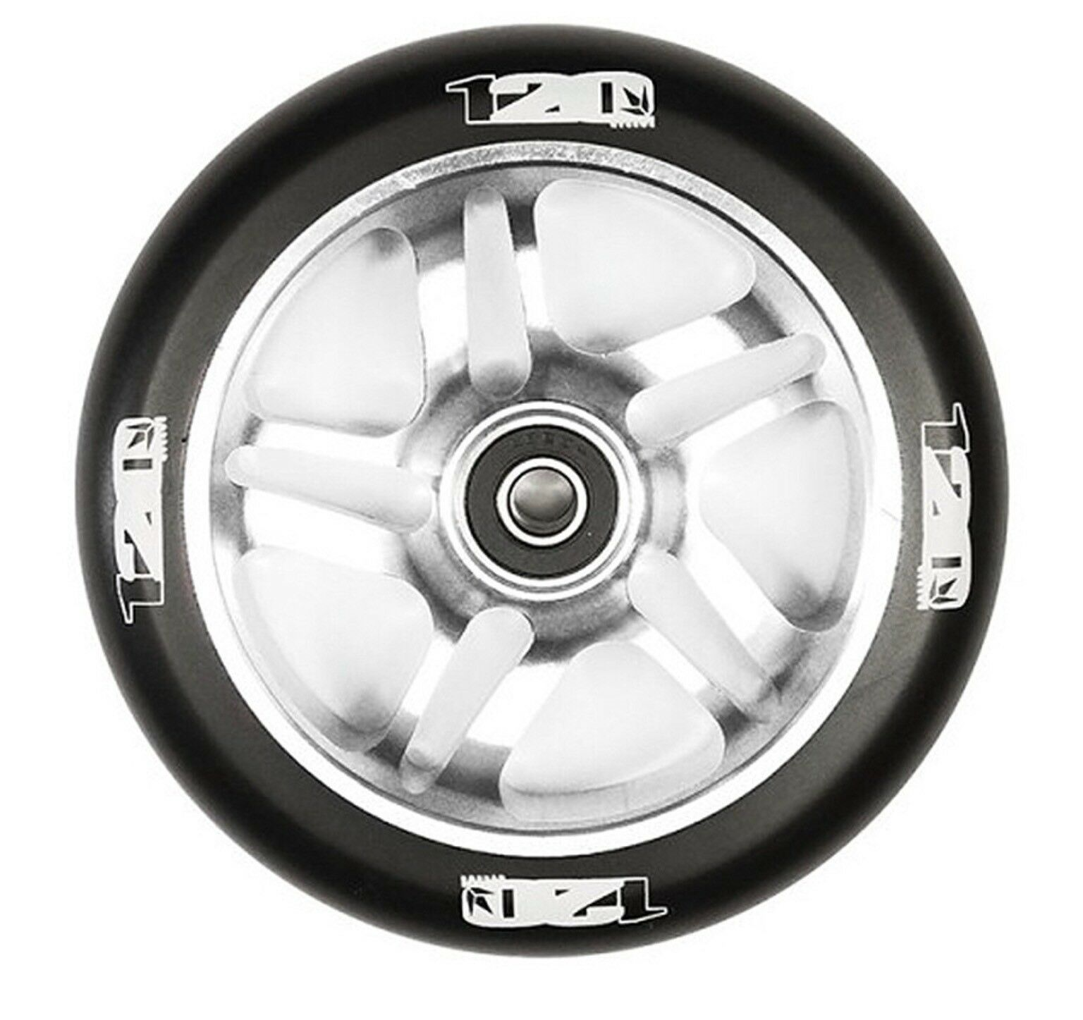 A Pair Of bluent 120mm  Stunt Scooter Wheels - OTR Polished