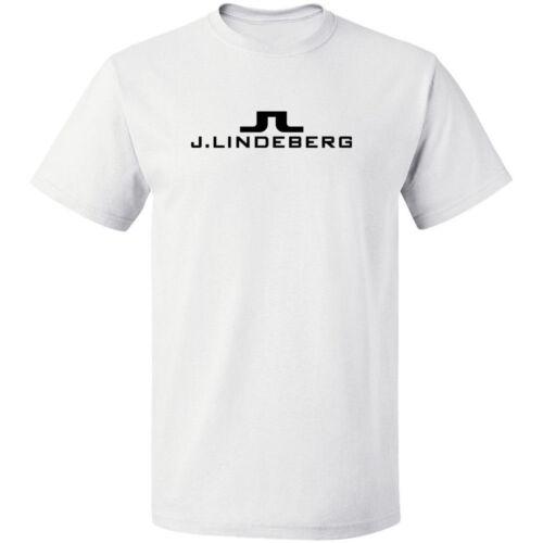 J.Lindeberg Swedish clothing logo shirt black white tshirt men/'s free shipping