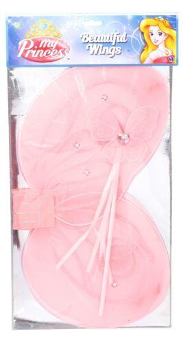 My Princess Beautiful Wings /& Wand Pink or Blue Fancy Dress Play HTI 1373655 3+