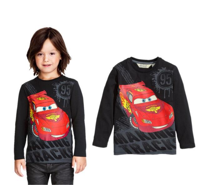 Cartoon Cars Baby Kids Boys Long sleeve Tops T-Shirt Blouses Hoodie 2~7Years
