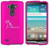 For LG G2 G3 Vigor G4 Shockproof Rubber Hard Case Cover Princess with Crown