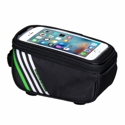 Front Beam Canvas Bike Frame Pannier Cycling Accessories Phone Bag Bicycle Bags