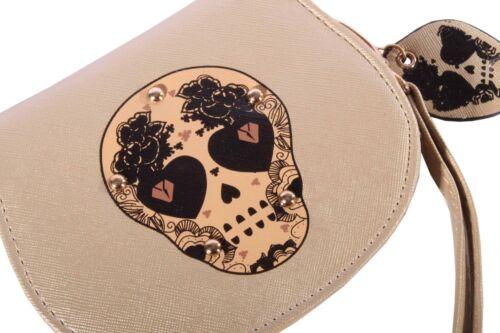 Mexican Teschio Rockabilly SKULL Morti Cranio portafoglio portafoglio
