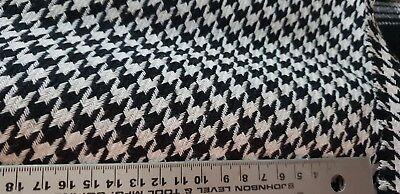 150 Cm de Ancho Tela Marrón Tweed Lana Italiana
