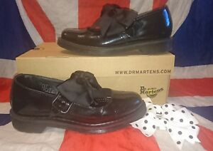 0374aec46f7 Rare Mariel Black Patent Leather Dr Doc Martens Mary Janes Bows ...