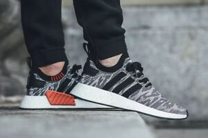 Adidas NMD R2 PK Primeknit Camo Glitch Core Black White Orange ... 8b5f9801776f