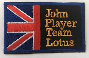 John Player Team lotus embroidered cloth patch. D030606