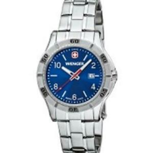 Wenger-Platoon-0921-104-Blue-Dial-Stainless-Steel-Bracelet-Women-039-s-Analog-Watch