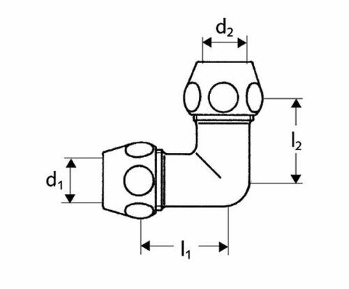 """Winkel Quetschverschraubung Doppel Verschraubung Ø 3//8/"""" x 10mm NEU"""