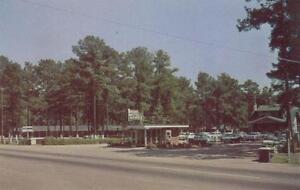Vintage Postcard C1950 60s Mccains Motel And Restaurant Florence Sc