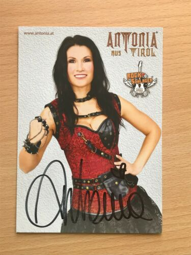 signiert 3640 Antonia aus Tirol Schlager Autogrammkarte orig
