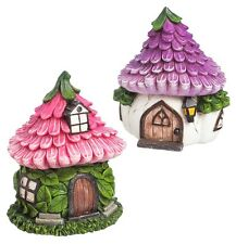 FAIRY GARDEN Miniature ~ Cozy Garden Fairy Houses – Set of 2 ~ Mini Dollhouse