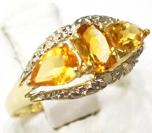 SYJEWELLERY-9CT-YELLOW-GOLD-NATURAL-OVAL-CITRINE-amp-DIAMOND-RING-SIZE-N-R908
