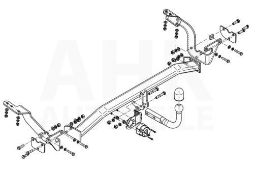 Citroen C4 Grand Picasso I Anhängerkupplung starr+ES 7p ABE