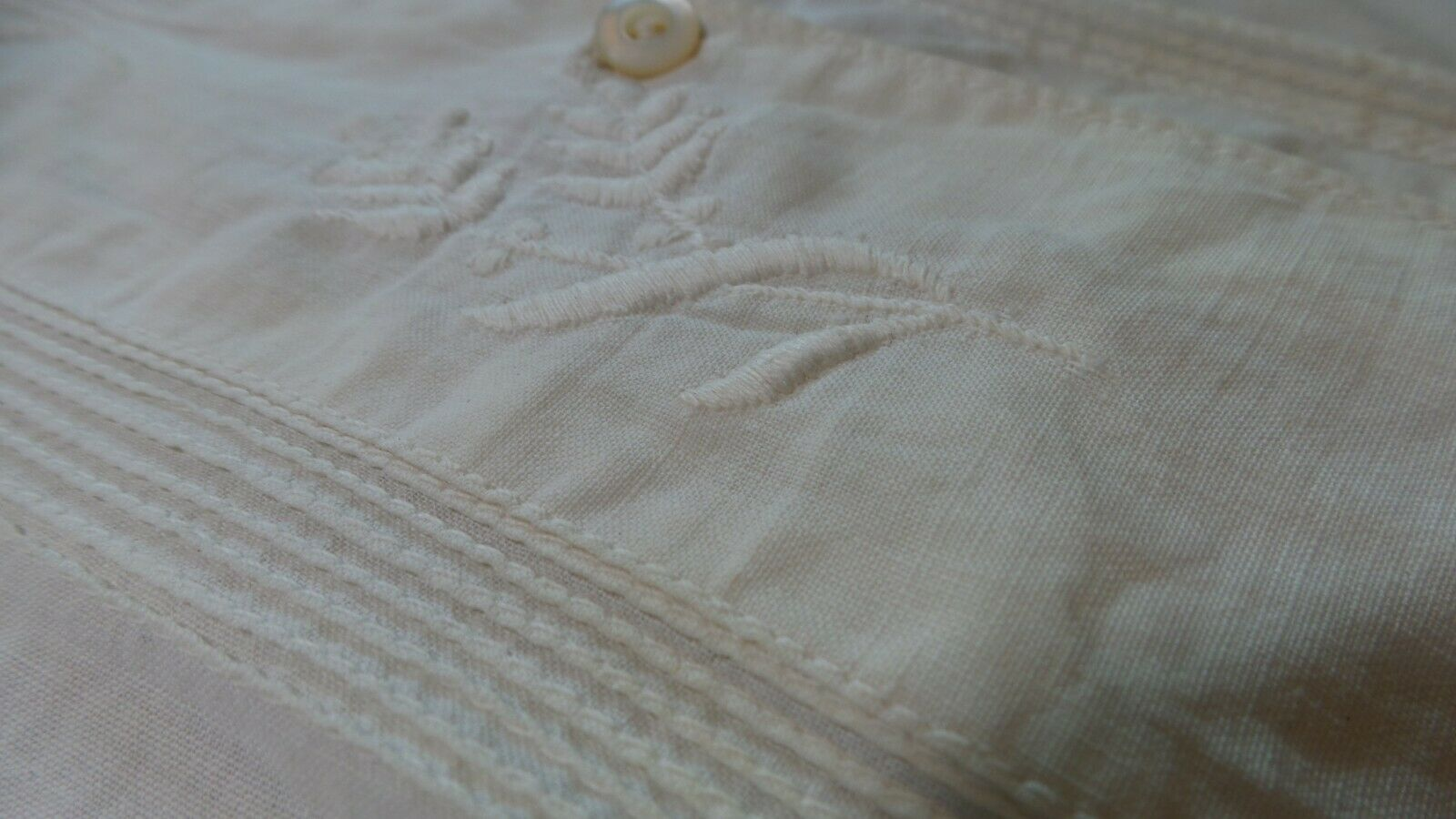 ANTIQUE! Hand STITCHED Women's BLOUSE With LACE C… - image 7