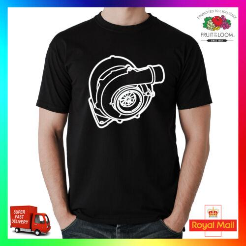 Huge Turbo Funny T-Shirt Shirt Printed Tee Gift Trackday Motorsport Diesel JDM