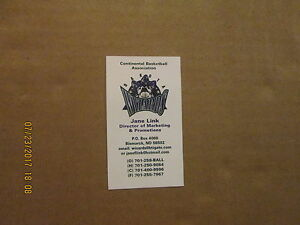 Cba dakota wizards vintage defunct logo basketball business card ebay image is loading cba dakota wizards vintage defunct logo basketball business colourmoves