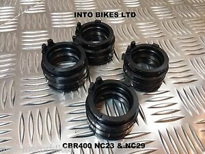 BRAND-NEW-FOR-HONDA-CBR400-NC29-CARB-INTAKE-INLET-RUBBERS-TO-CYLINDER-HEAD-SET