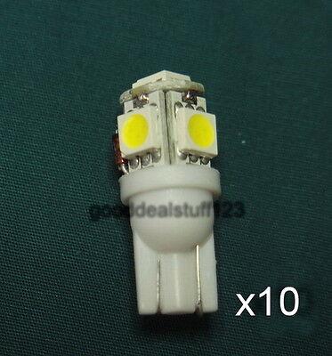 10 Malibu Bright White LED Light Bulb Replacement Wedge Base