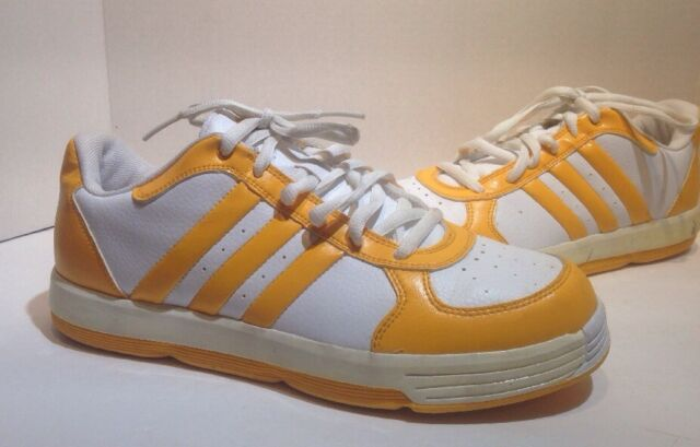 vintage adidas yellow mens shoes size 10