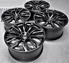 "20"" 2017 X6 M STYLE STAGGERED BLACK WHEELS RIMS FIT BMW X5 X6 1166 MB"