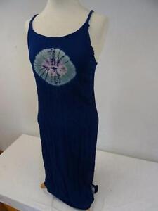 FidèLe Tie Dye Robe De Plage Bleu Taille Uk 10 429 B-afficher Le Titre D'origine ModèLes à La Mode