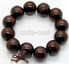 AAA 18mm Wood Beads Tibet Buddhist Prayer Bracelet Mala Buddha