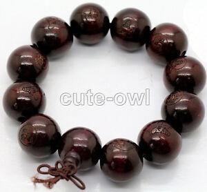 AAA-18mm-Wood-Beads-Tibet-Buddhist-Prayer-Bracelet-Mala-Buddha