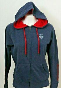 NEW Connecticut Uconn Huskies Colosseum Navy Full Zip Hoodie Jacket Women's M