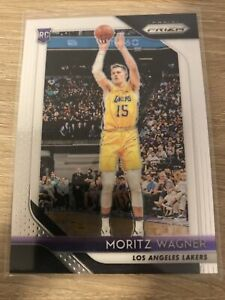 2018-19 Panini Prizm Base ROOKIE RC #284 Moritz Wagner Los Angeles Lakers Mint