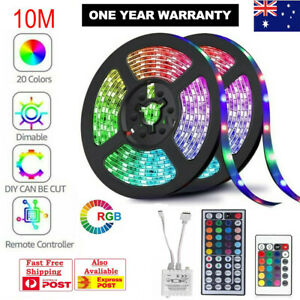 5M-10M-3528-5050-RGB-LED-Strip-Light-Multi-Colored-Activated-Remote-12V-Strips