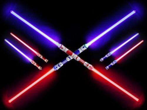 Leuchtschwert 2in1 Steckschwerter Blink-Schwert Spielzeug Schwert doppelt 110 cm