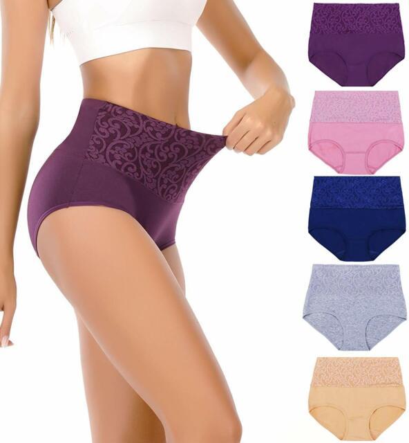 Camille Womens Ladies Underwear Shapewear Jacquard Blue Control Support Briefs