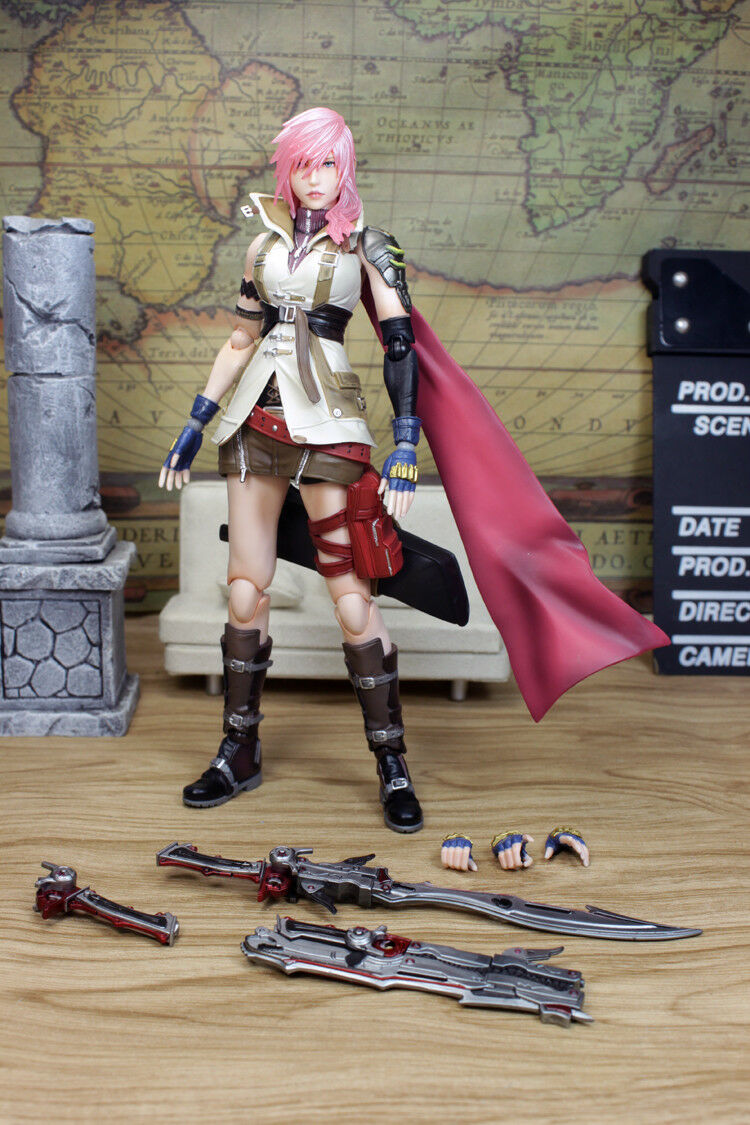 Square Enix FINAL FANTASY 13 FULMINE Action Figure 3.0 VER Play Arts Kai SENZA SCATOLA
