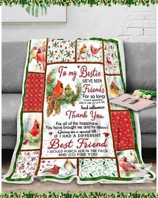 To My Best Friend My Dear Friend I Thank You For All That You Do Blanket Best Friend Gift Fleece Blanket 50x60; 60x80