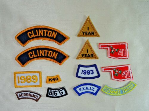 13 Vintage Assorted Boy Scout Badges Patches A