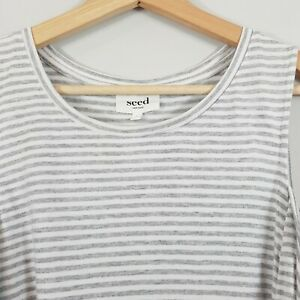SEED-HERITAGE-Womens-Striped-cut-out-shoulder-Top-Size-L-or-AU-14