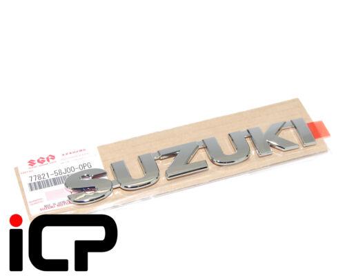 Original Del Portón Trasero Cromo Insignia Emblema trasero Para Suzuki Swift 77821-58J00-0PG