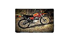 1978 xl250s Bike Motorcycle A4 Retro Metal Sign Aluminium